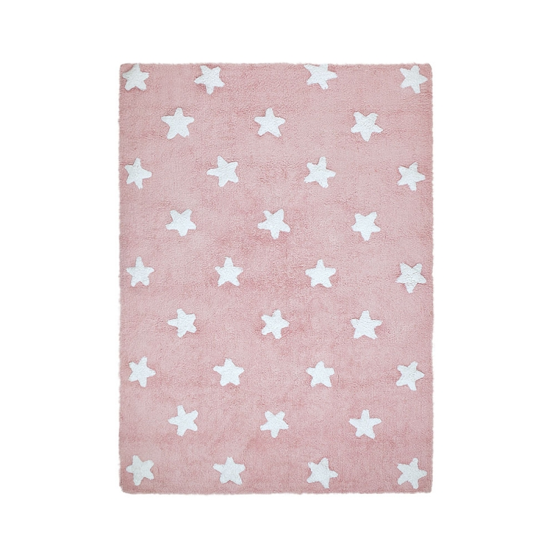 tapis enfant stars rose lorena canals 120x160. Black Bedroom Furniture Sets. Home Design Ideas