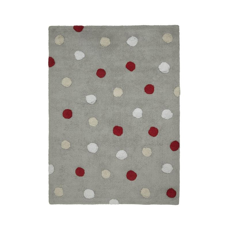 tapis enfant topos tricolor gris lorena canals 120x160. Black Bedroom Furniture Sets. Home Design Ideas