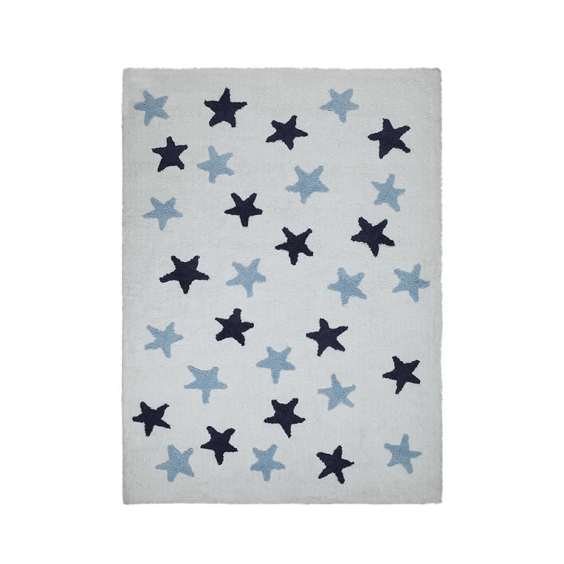 tapis enfant messy stars bleu lorena canals 120x160. Black Bedroom Furniture Sets. Home Design Ideas