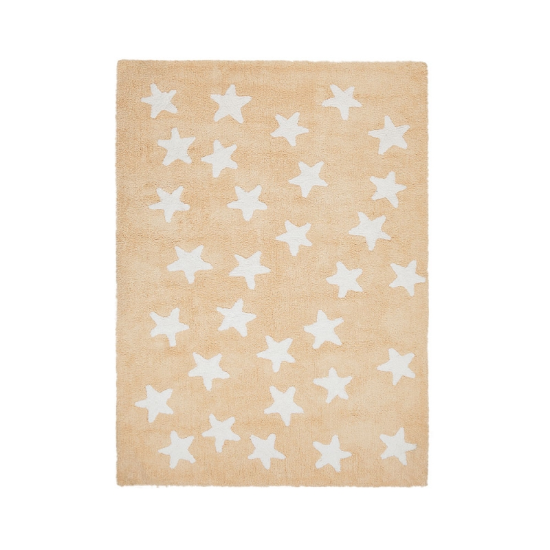 tapis enfant messy stars jaune lorena canals 120x160. Black Bedroom Furniture Sets. Home Design Ideas