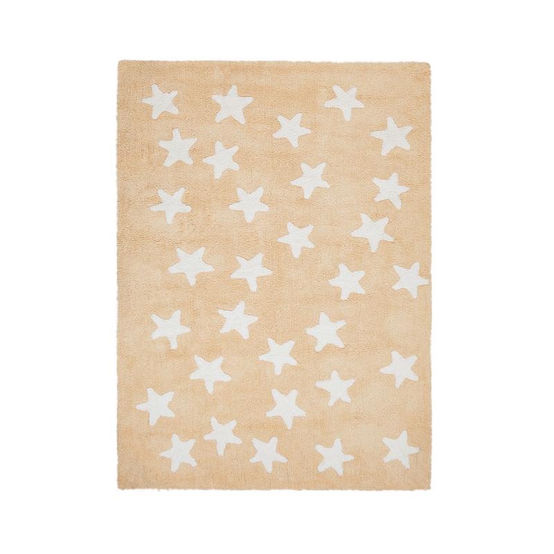 tapis enfant messy stars jaune lorena canals 120x160. Black Bedroom Furniture Sets. Home Design Ideas