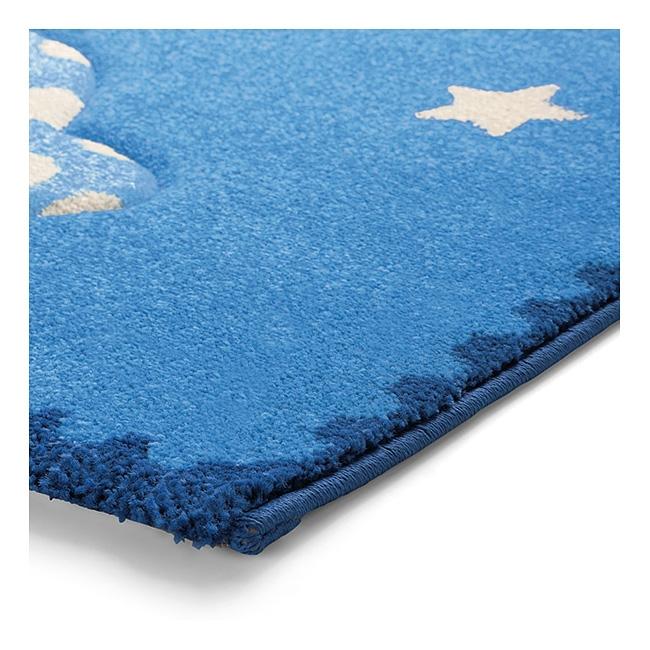 tapis bleu little astronauts esprit home 133x200. Black Bedroom Furniture Sets. Home Design Ideas