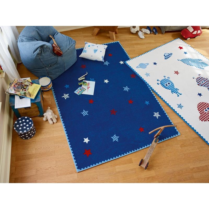 tapis space stars bleu esprit home 80x150. Black Bedroom Furniture Sets. Home Design Ideas