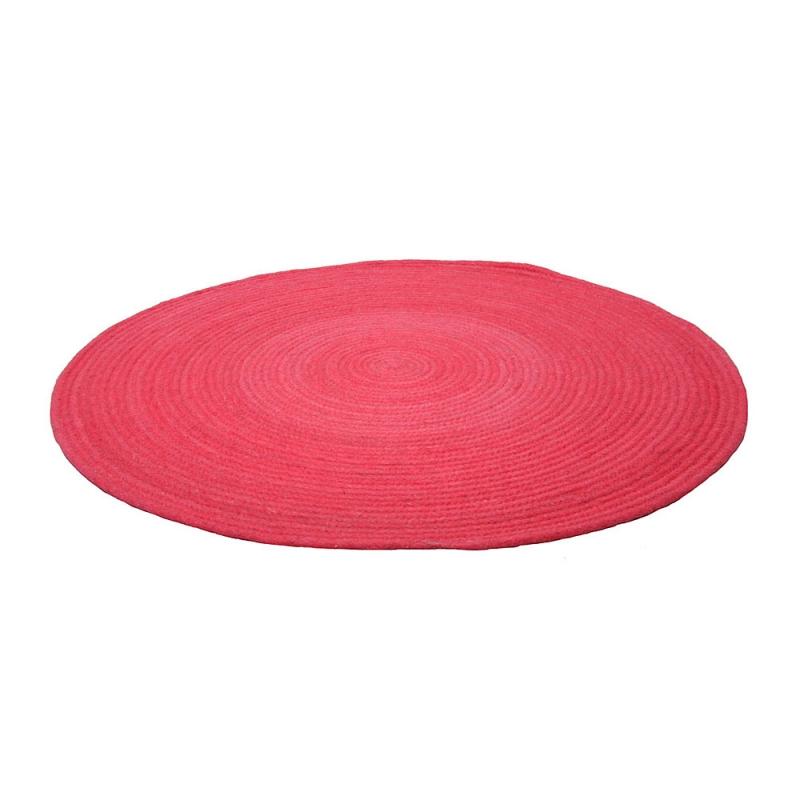 tapis enfant rond halo rose 1 pied sur terre 140x140. Black Bedroom Furniture Sets. Home Design Ideas