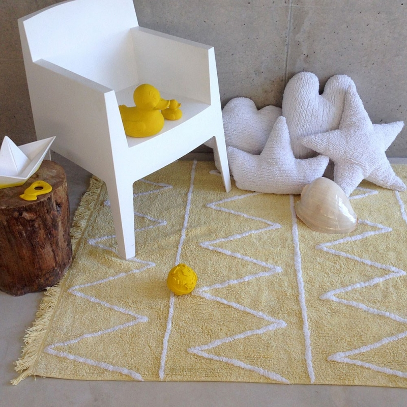 tapis enfant hippy soft jaune lorena canals 120x160. Black Bedroom Furniture Sets. Home Design Ideas