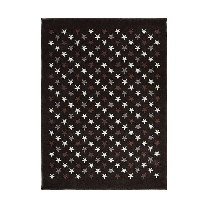 tapis enfant lorena canals estrellitas marron et gris 200x300. Black Bedroom Furniture Sets. Home Design Ideas