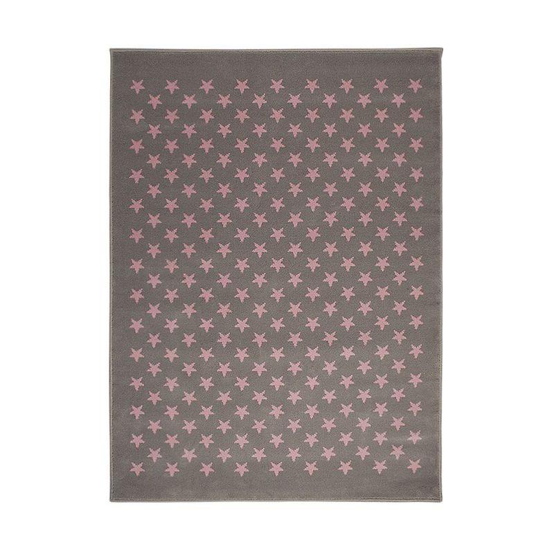 tapis enfant estrellitas gris et rose lorena canals 120x160. Black Bedroom Furniture Sets. Home Design Ideas