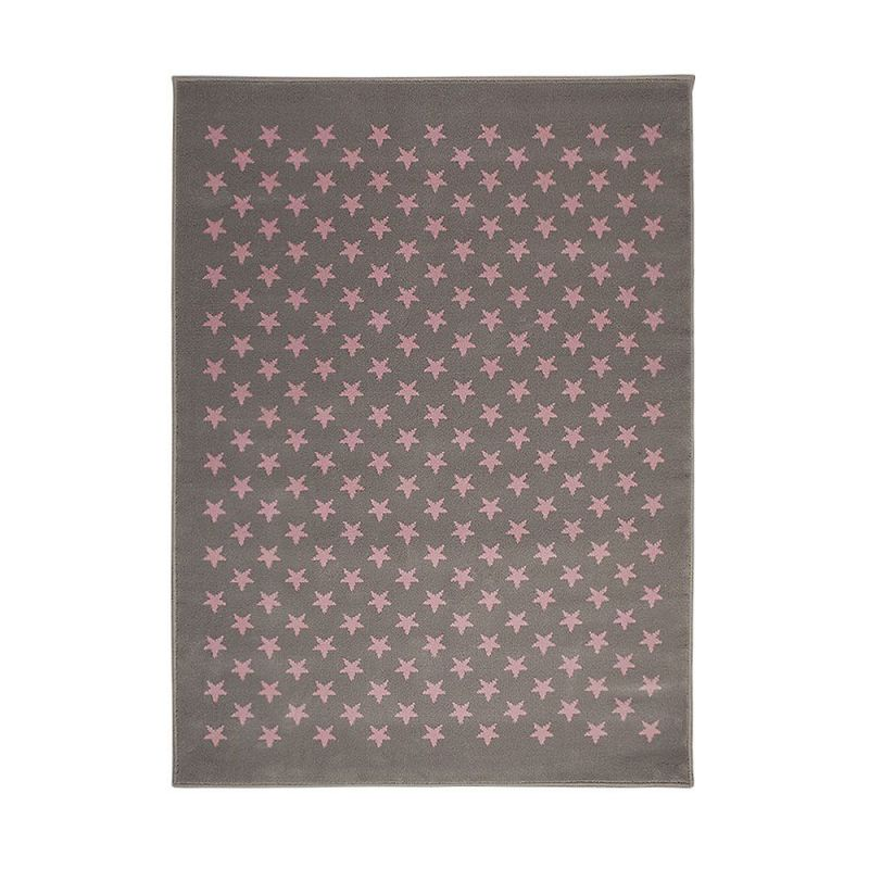tapis enfant gris et rose lorena canals estrellitas 140x200. Black Bedroom Furniture Sets. Home Design Ideas