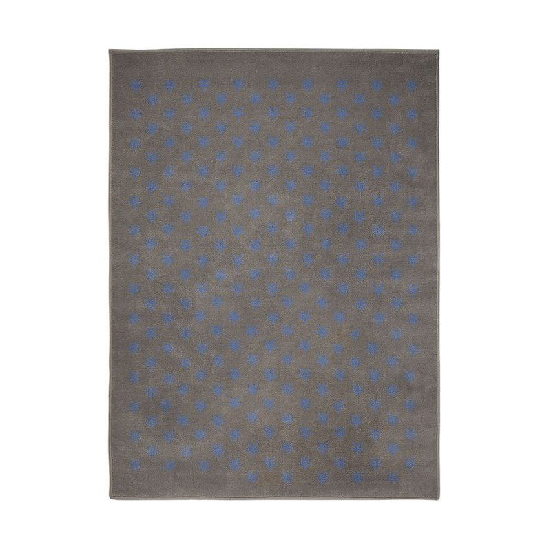 tapis enfant lorena canals estrellitas gris et bleu 200x300. Black Bedroom Furniture Sets. Home Design Ideas