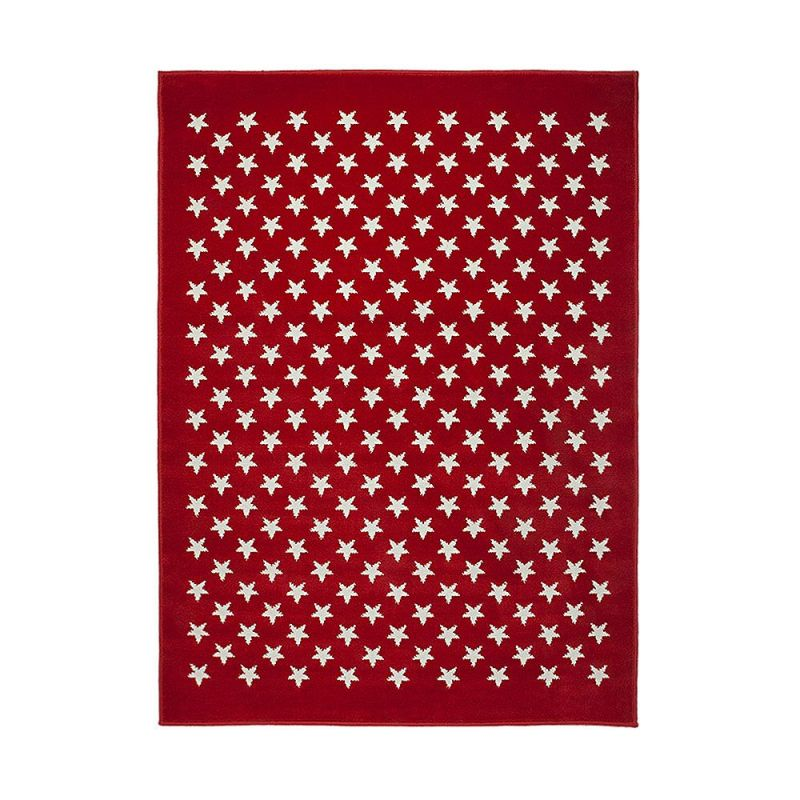 tapis enfant estrellitas rouge lorena canals 120x160. Black Bedroom Furniture Sets. Home Design Ideas