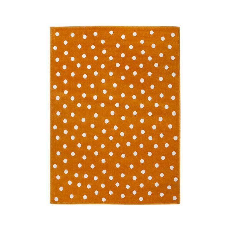tapis enfant lorena canals dot orange 140x200. Black Bedroom Furniture Sets. Home Design Ideas