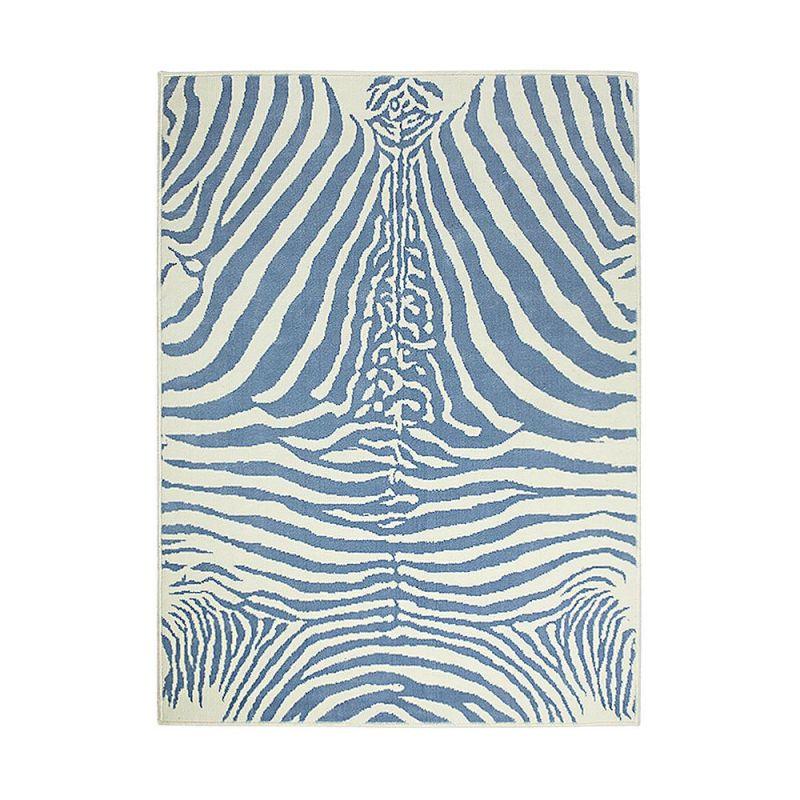 tapis enfant zebra bleu motif z bre lorena canals 140x200. Black Bedroom Furniture Sets. Home Design Ideas