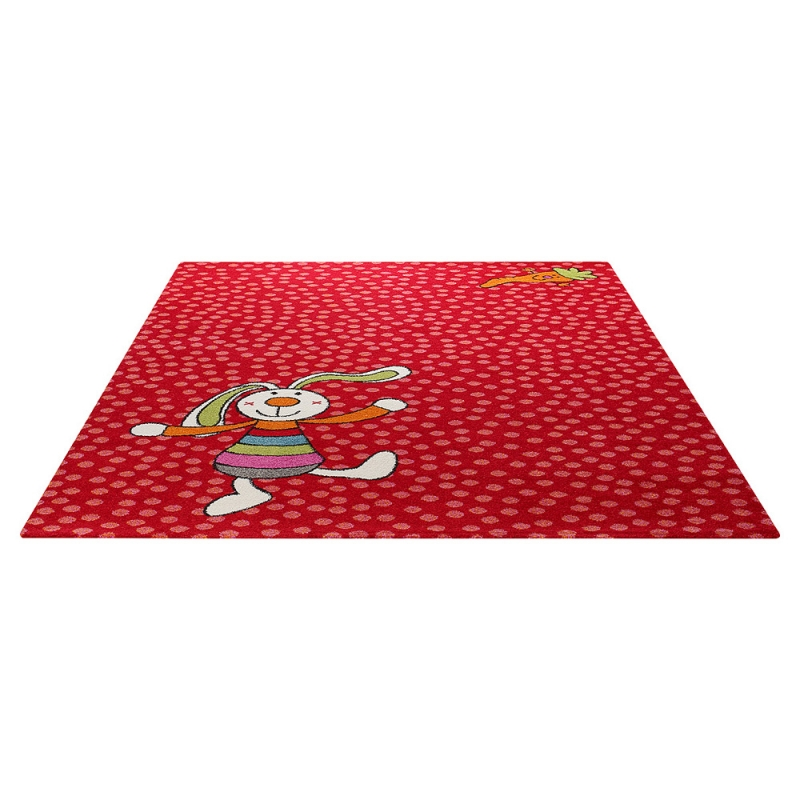 tapis enfant rainbow rabbit rouge sigikid 80x150 With tapis enfant rouge