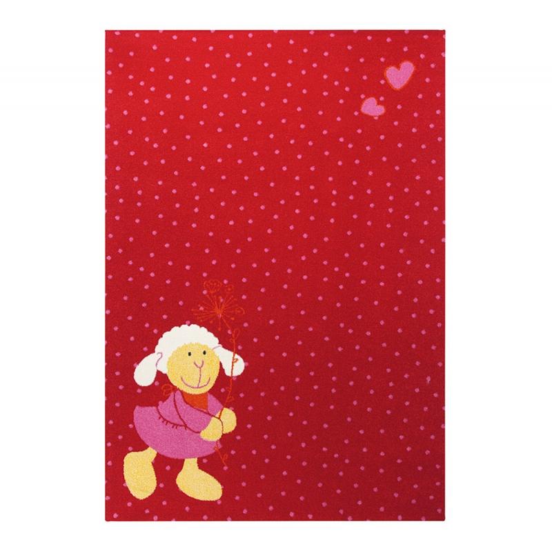 tapis enfant rouge sigikid schnuggi 120x170. Black Bedroom Furniture Sets. Home Design Ideas
