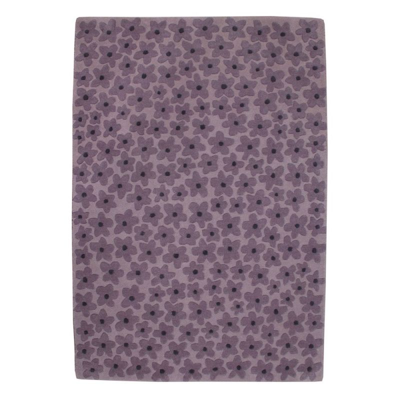 tapis enfant en laine flower violet lorena canals 140x200. Black Bedroom Furniture Sets. Home Design Ideas