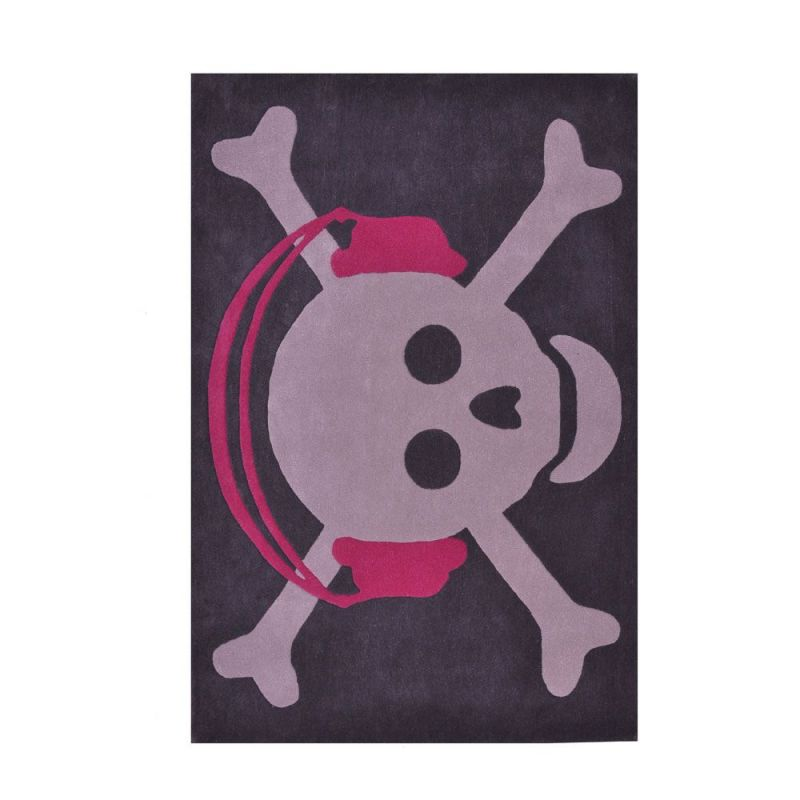 tapis enfant en laine skull headphones fuchsia lorena canals 140x200. Black Bedroom Furniture Sets. Home Design Ideas