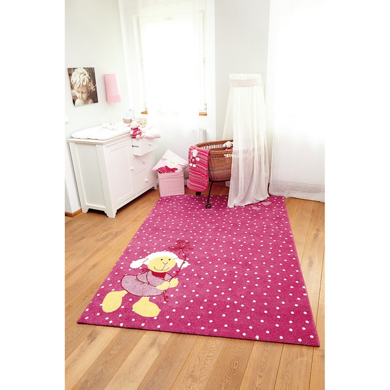 tapis enfant schnuggi rose sigikid 80x150. Black Bedroom Furniture Sets. Home Design Ideas