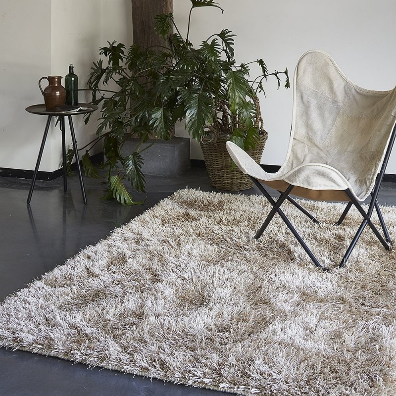 tapis shaggy cool glamour champagne esprit home - Tapis Shaggy