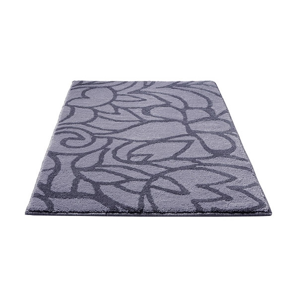 tapis de bain flower shower gris esprit home 55x65. Black Bedroom Furniture Sets. Home Design Ideas