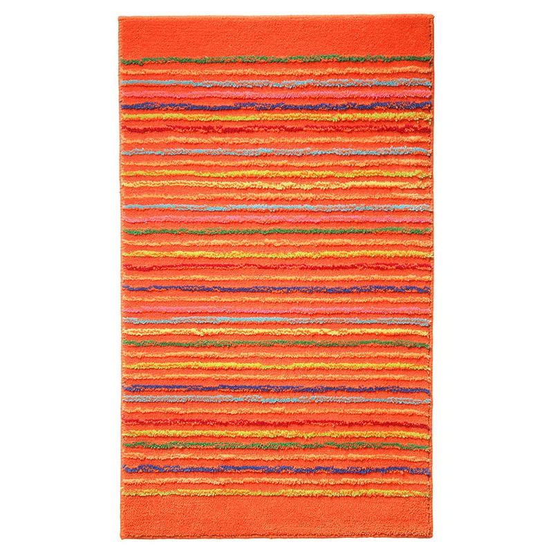 tapis de bain esprit home cool stripes orange 60x100. Black Bedroom Furniture Sets. Home Design Ideas