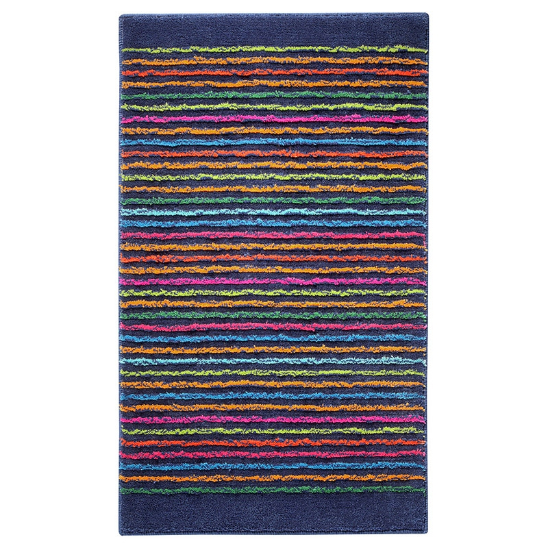 tapis de bain cool stripes bleu esprit home 55x65. Black Bedroom Furniture Sets. Home Design Ideas
