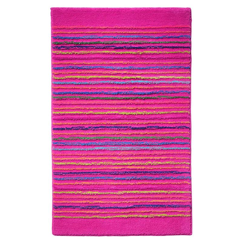 tapis de bain esprit home cool stripes rose 60x100. Black Bedroom Furniture Sets. Home Design Ideas