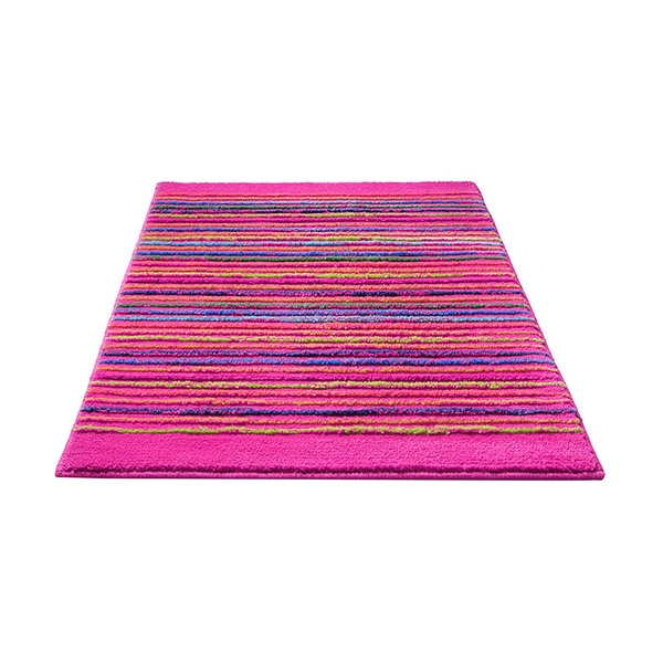tapis de bain esprit home cool stripes rose 60x100. Black Bedroom Furniture Sets. Home Design Ideas