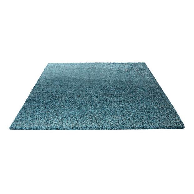 tapis cosy glamour bleu esprit home shaggy 133x200. Black Bedroom Furniture Sets. Home Design Ideas