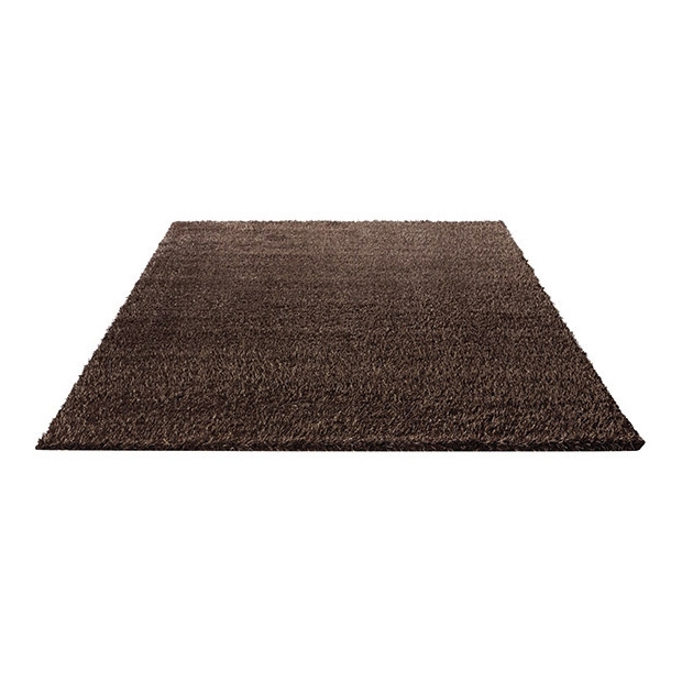tapis shaggy marron esprit home cosy glamour 120x120. Black Bedroom Furniture Sets. Home Design Ideas