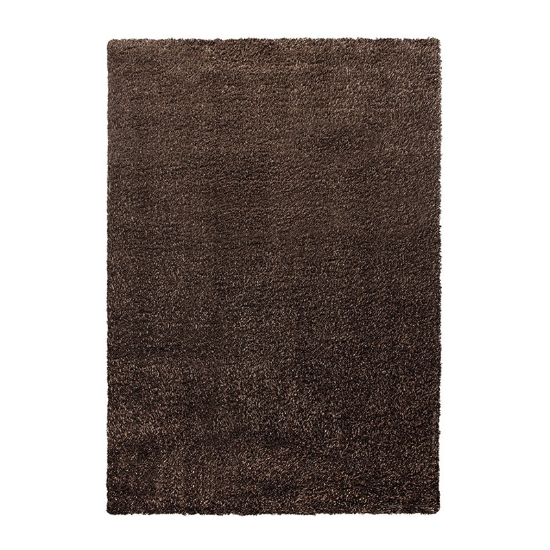tapis cosy glamour marron esprit home shaggy 133x200. Black Bedroom Furniture Sets. Home Design Ideas