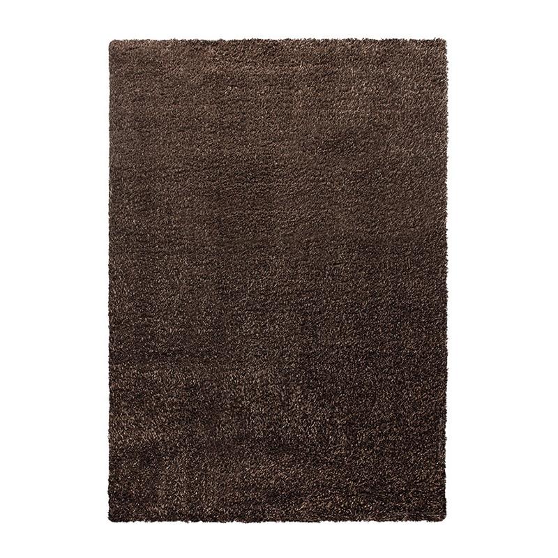 tapis shaggy cosy glamour marron esprit home 60x110. Black Bedroom Furniture Sets. Home Design Ideas