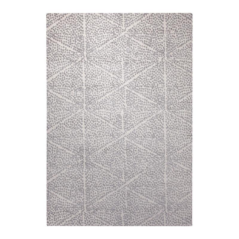 tapis blanc et gris esprit home madison 133x200. Black Bedroom Furniture Sets. Home Design Ideas
