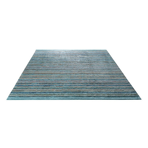 tapis moderne samba stripes esprit home bleu 200x200. Black Bedroom Furniture Sets. Home Design Ideas