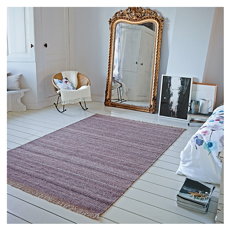 tapis blurred aubergine esprit home 80x150. Black Bedroom Furniture Sets. Home Design Ideas