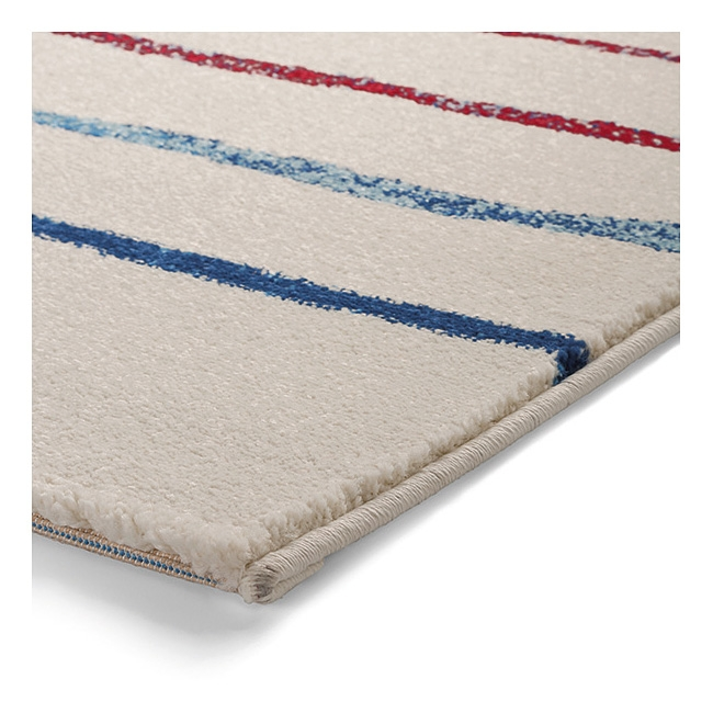 tapis joyful stripes esprit home blanc et bleu 133x200. Black Bedroom Furniture Sets. Home Design Ideas