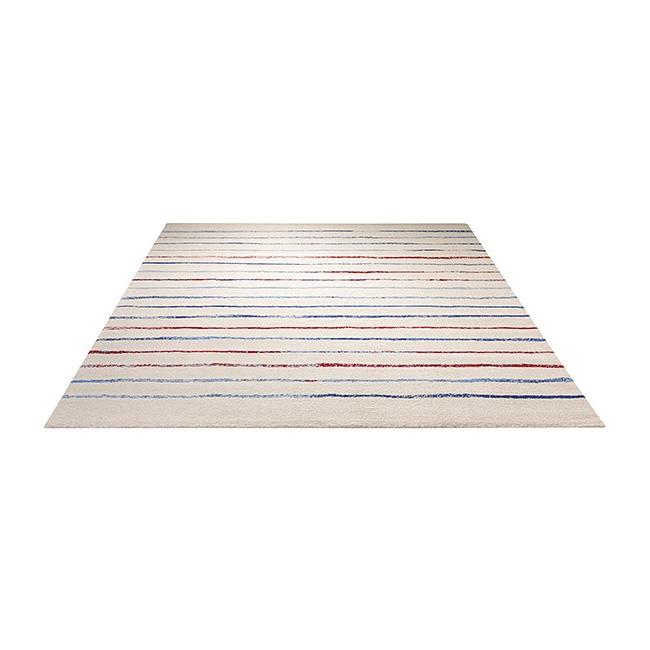 tapis joyful stripes esprit home blanc et bleu 133x200. Black Bedroom Furniture Sets. Home Design Ideas