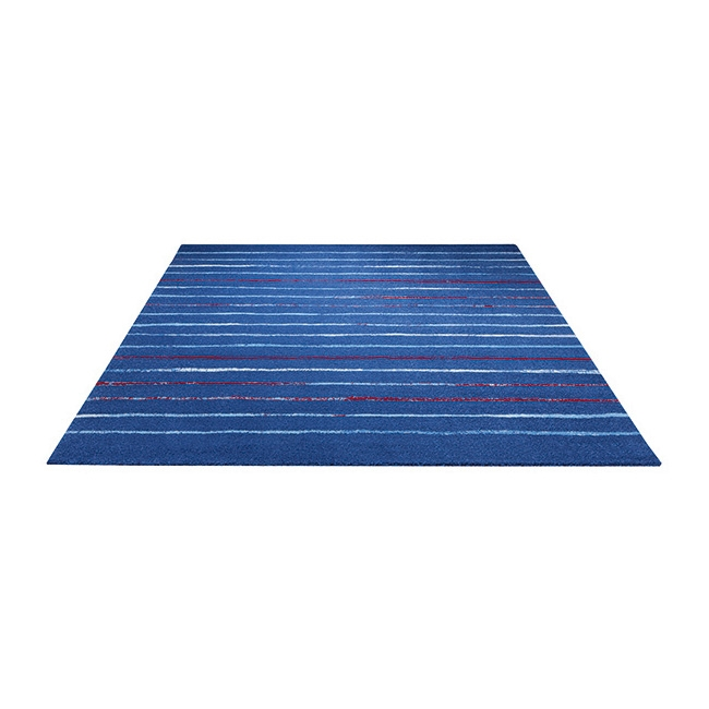 tapis joyful stripes esprit home bleu 133x200. Black Bedroom Furniture Sets. Home Design Ideas