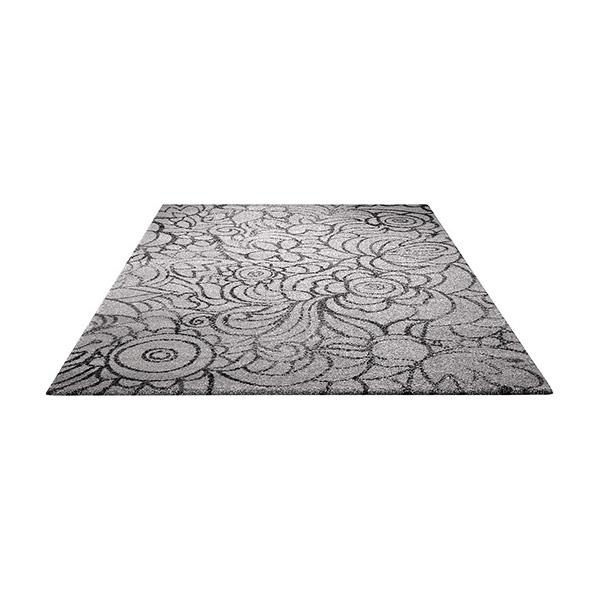 tapis gris motif floral esprit home madison 200x290. Black Bedroom Furniture Sets. Home Design Ideas