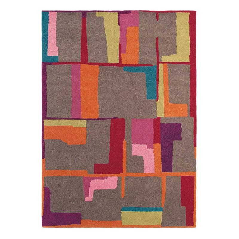 Tapis Estella Fragment Brink Campman Multicolore Pure Laine 160x230