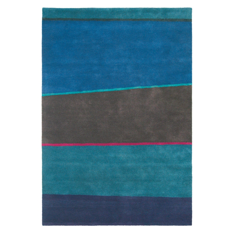tapis estella horizon brink campman bleu pure laine vierge 160x230. Black Bedroom Furniture Sets. Home Design Ideas