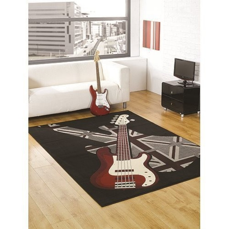 tapis chambre ado guitare boys rock flair rugs 120x160. Black Bedroom Furniture Sets. Home Design Ideas