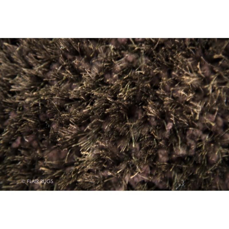 Tapis shaggy tuft main chocolat pearl flair rugs 160x230 - Tapis shaggy chocolat ...