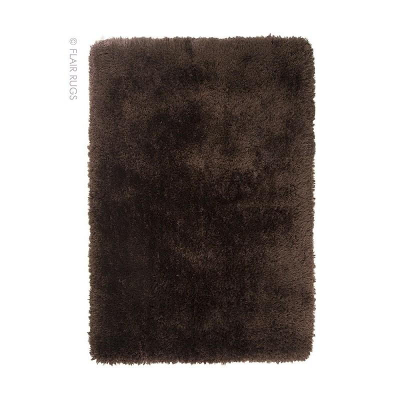 Tapis shaggy tuft main chocolat pearl flair rugs 80x150 - Tapis shaggy chocolat ...