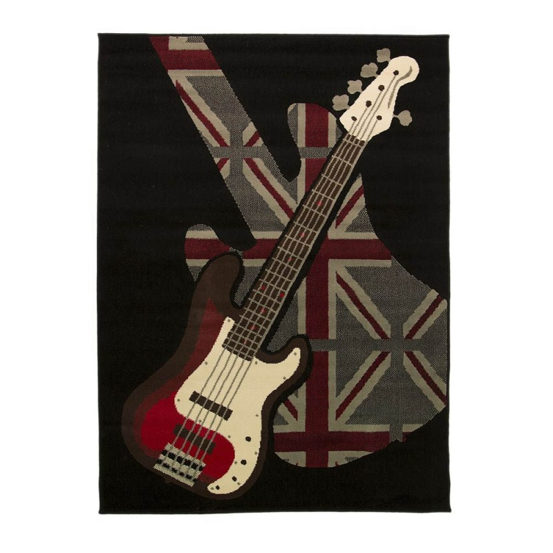 tapis chambre ado guitare boys rock flair rugs 160x225. Black Bedroom Furniture Sets. Home Design Ideas