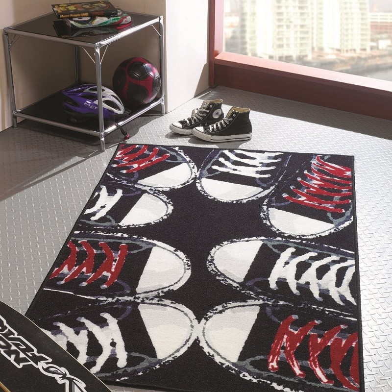 tapis chambre ado sneakers flair rugs 100x160. Black Bedroom Furniture Sets. Home Design Ideas