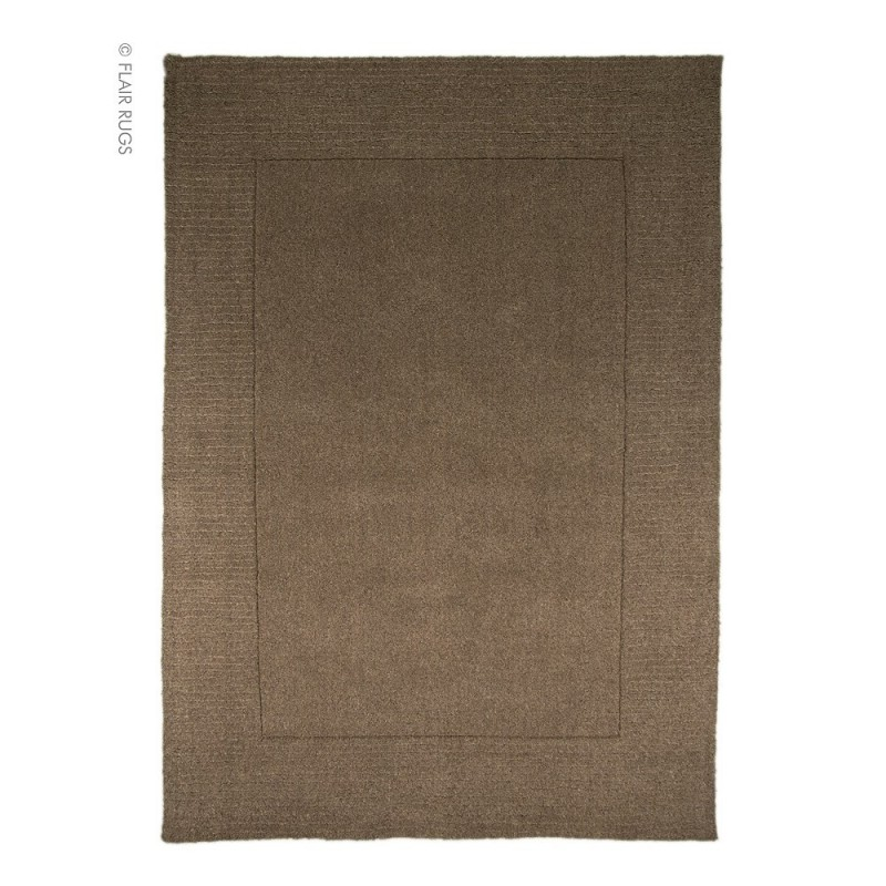 tapis moderne laine taupe siena flair rugs 120x170. Black Bedroom Furniture Sets. Home Design Ideas