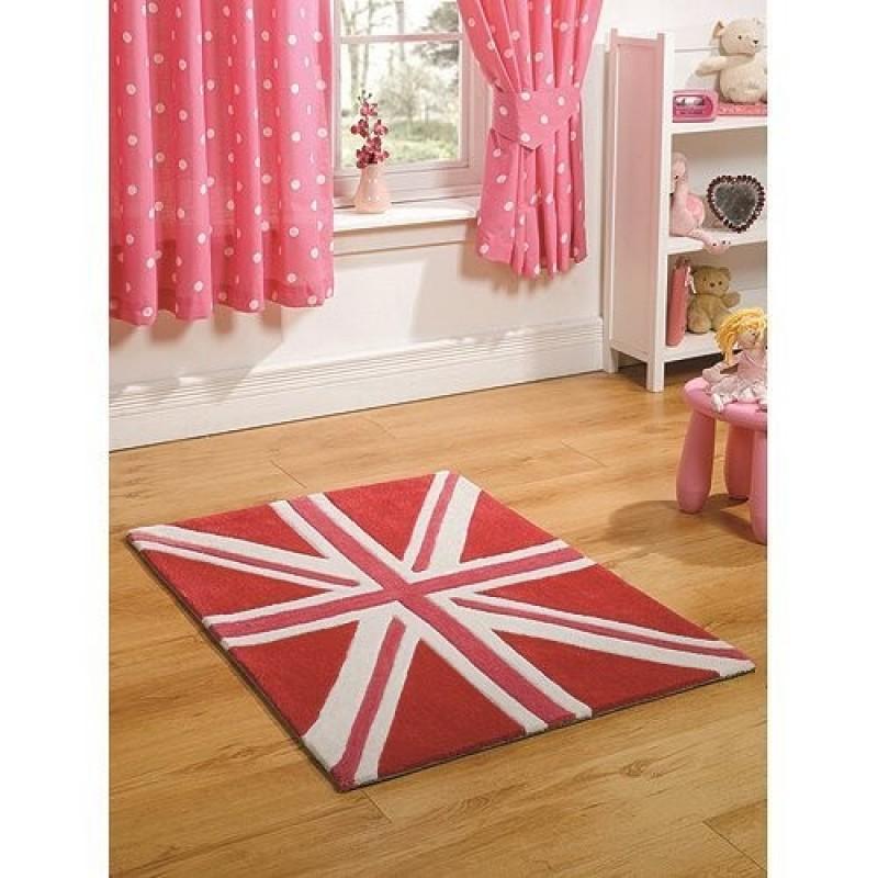 tapis union jack rose mini jack flair rugs 70x100. Black Bedroom Furniture Sets. Home Design Ideas