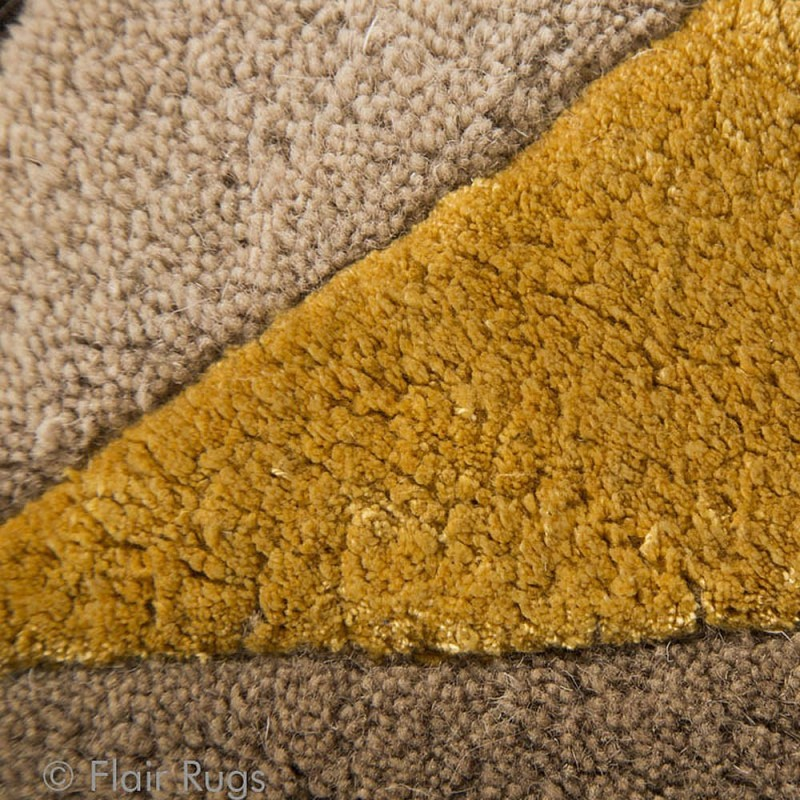 tapis laine fait main ocre scorpio flair rugs 90x150. Black Bedroom Furniture Sets. Home Design Ideas