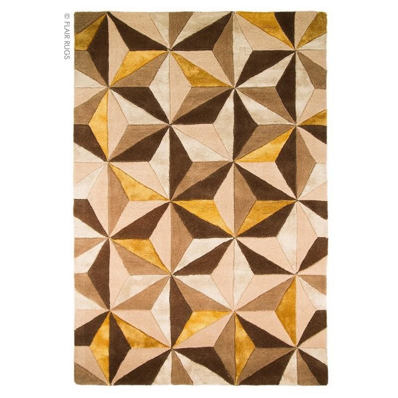 tapis laine fait main ocre scorpio flair rugs 90x150. Black Bedroom Furniture Sets. Home Design Ideas