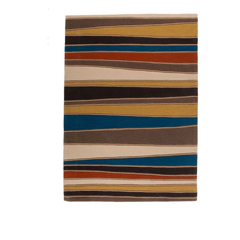 tapis ray ocre et multicolore streak flair rugs 120x170. Black Bedroom Furniture Sets. Home Design Ideas